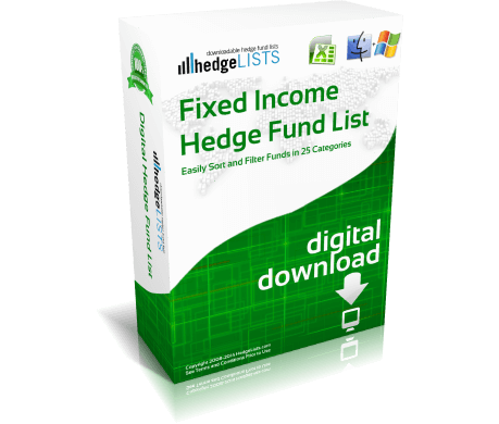 List of Fixed Income Hedge Funds